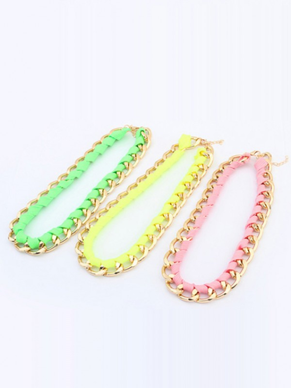 Occident Trendy Major suit Fluorescent colors Hot Sale Necklace