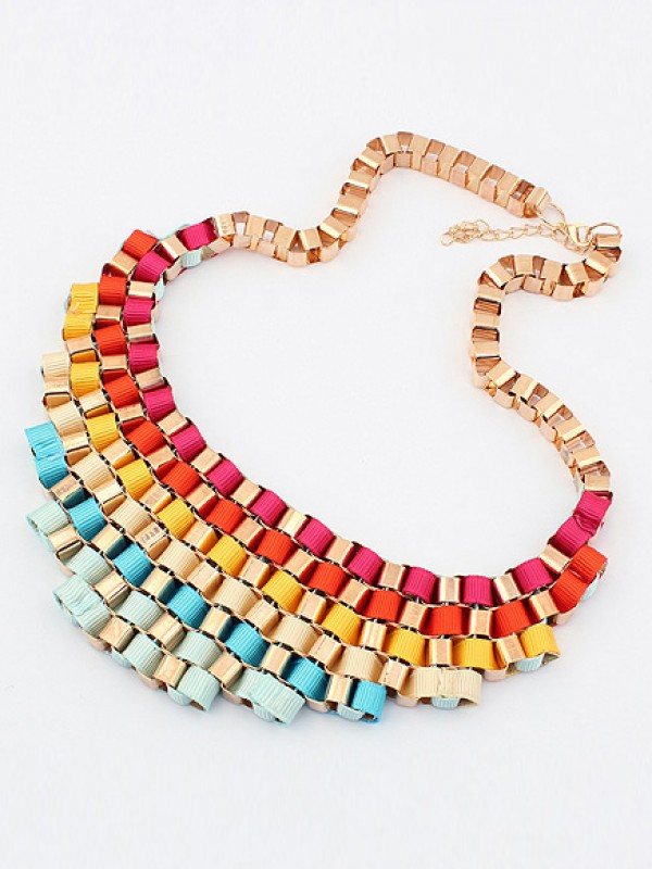 Occident Hyperbolic Colorful Stylish Street shooting All-match Hot Sale Necklace