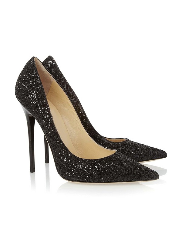 Women's Closed Toe Stiletto Heel With Sequin Party & High Heels