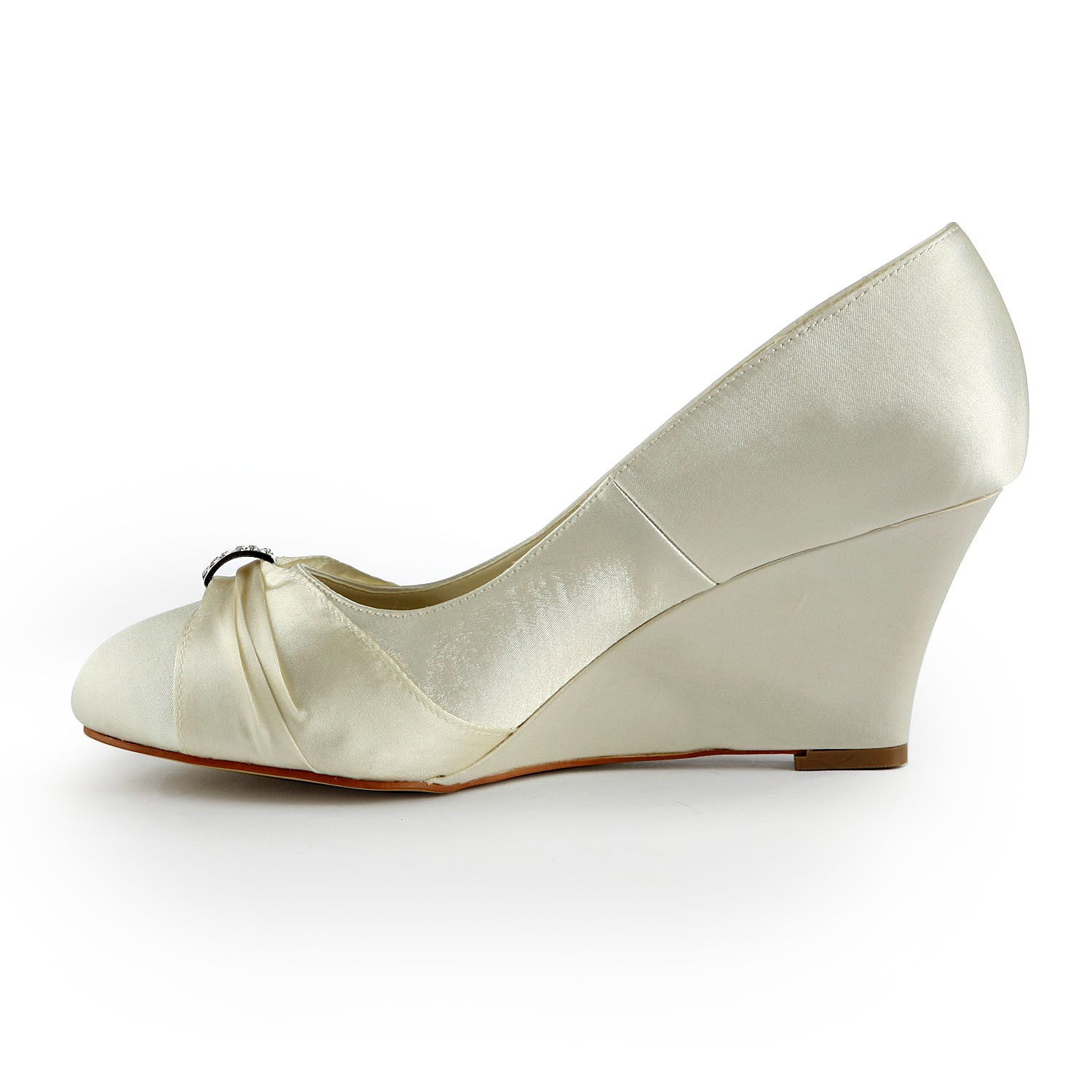Gold Wedding Shoes Closed Toe