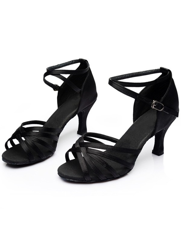 Leatherette Kitten Heel Peep Toe Sandals