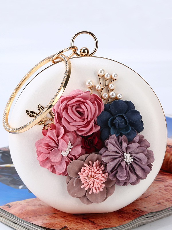 Round PU Evening/Party Handbags