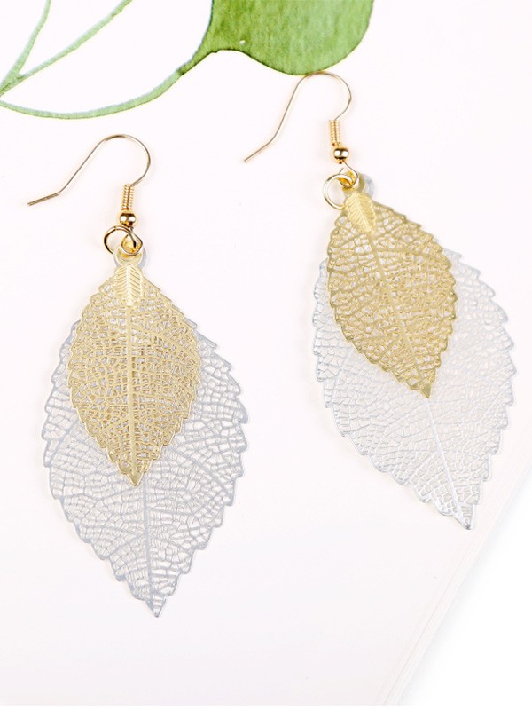 Vintage Copper With Leaf Hot Sale Earrings