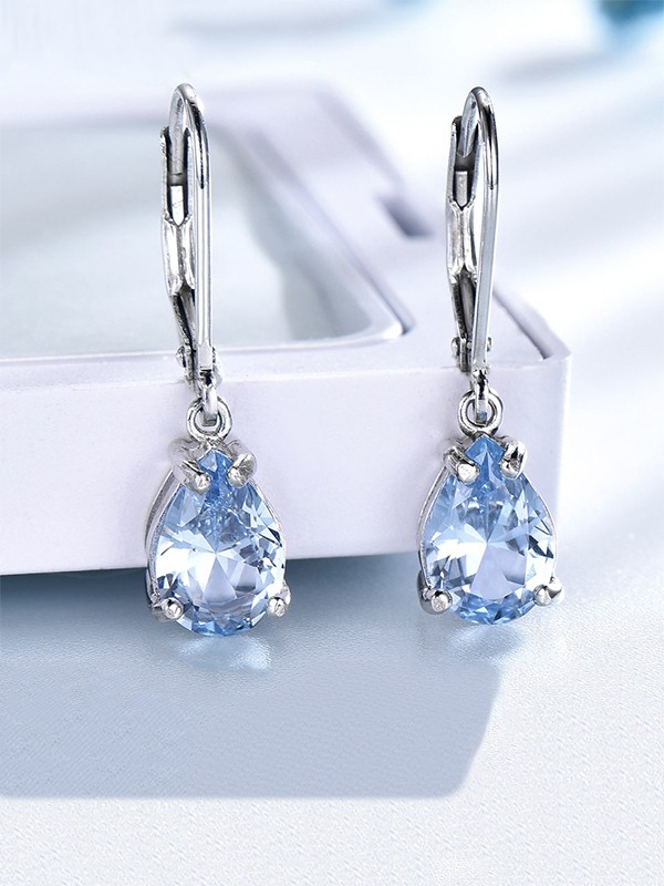 Charming Gemstone With S925 Silver Earrings