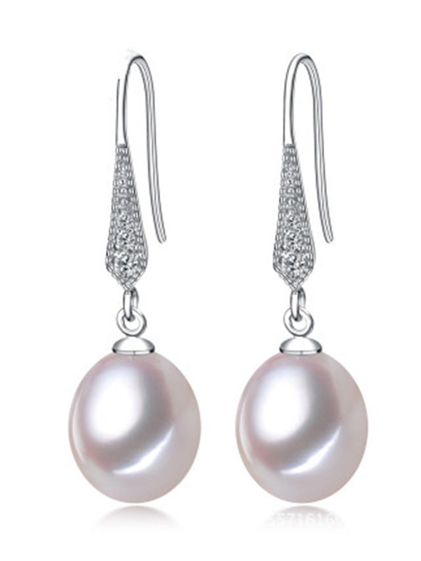 Simple S925 Silver With Pearl Earrings