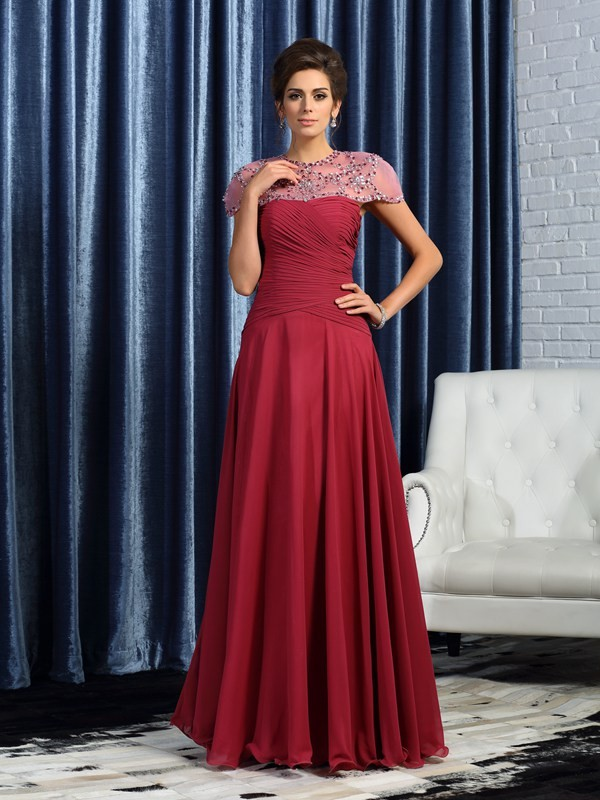 A-Line/Princess Sweetheart Ruched Sleeveless Long Chiffon Mother of the Bride Dresses
