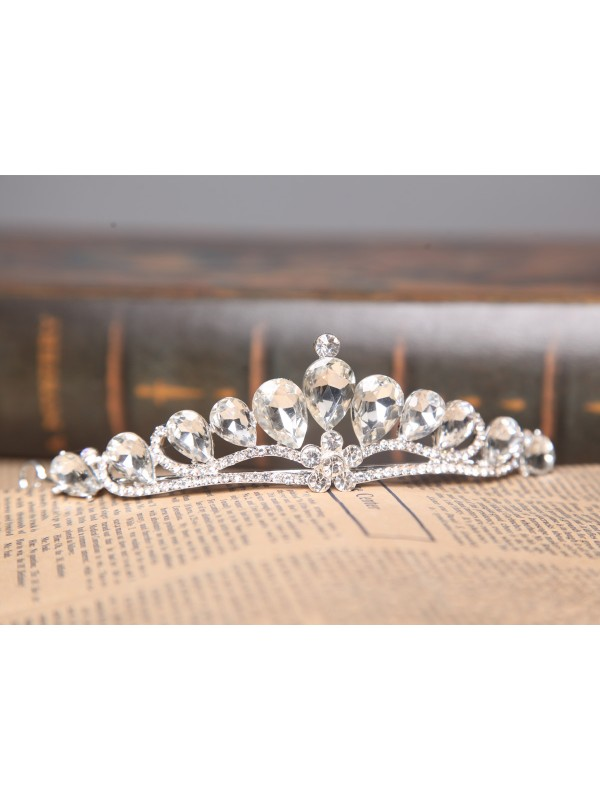 Nice Alloy Clear Crystals Wedding Headpieces