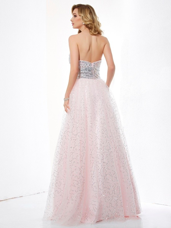 Ball Gown Sweetheart Sleeveless Long Net Dresses