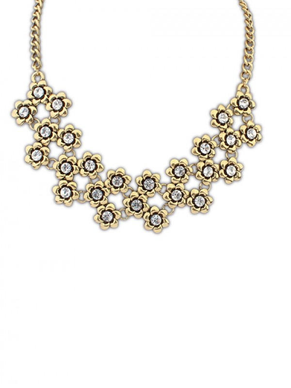 Occident Stylish Retro Metallic Plum Flower Hot Sale Necklace