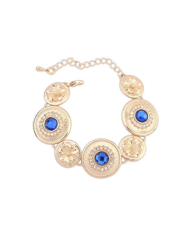 Occident Fashionable Popular Round Plate Hot Sale Bracelets